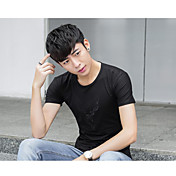 Hombre Clásico Ropa Cotidiana Verano Camiseta,Escote Redondo Otros Manga Corta N/A Medio