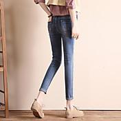 秋の2017韓国語バージョン記号は薄いスリムジーンズ女性のズボンの足のズボンファッション野生でした