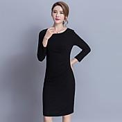 韓国のシルクのドレス2017春新しい女性の韓国のスリムな優雅底打ちスカートに署名
