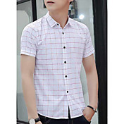 男性'スリム野生の半袖シャツハンサムな若い服半袖の薄いセクションのsの夏のファッショントレンドのドレス韓国語バージョン