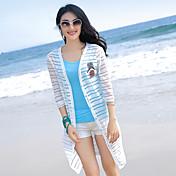 薄いエアコン付きのシャツの新しい春と夏のビーチ日焼け防止衣類のコートの袖ニットカーディガンショール長いセクション