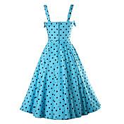 vestido del arnés azul punto de la onda 2016 resorte del algodón falda grande sección larga delgada de vestido de la princesa de gran