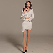スリム2017春のファッションソリッドカラーパッケージヒップは薄いドレスの新しいセクシーでした