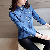 2017 nueva primavera coreano camisa de mezclilla camisa salvaje