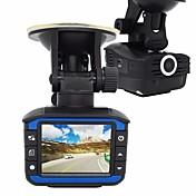 1台のレーダー探知機カーDVR 720pのダッシュカムGセンサー車のカメラレコーダービデオレジ抗レーダ検出器タコグラフ2