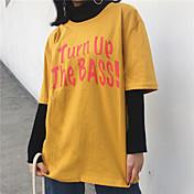 新しい女性の流入' sレター半袖Tシャツ女性半袖シャツcompassionate