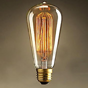 st64 e27 25w edison art deco light (220v) bombillas incandescentes de alta calidad
