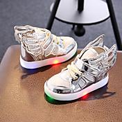 Chica-Tacón Plano-Light Up Zapatos-Zapatillas de deporte-Informal Deporte Fiesta y Noche-Sintético Tejido-Dorado Plateado Rosa