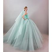 Fiesta/Noche Vestidos por Muñeca Barbie  por Chica de muñeca de juguete