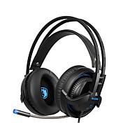 Sades sa935 nuevos auriculares bajos profundos con micrófono retráctil juegos de PC auricular estéreo auriculares profesionales de control