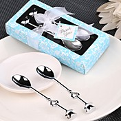 10box / set cucharas de té de cromo / bolas de helado (juego de 2) favores de la boda beter gifts® artículos de fiesta en la playa