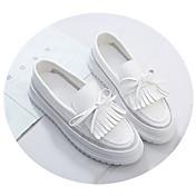 MujerSuelas con luz-Zapatos de taco bajo y Slip-Ons-Informal-Cuero de Cerdo-Blanco