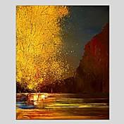 手描きの 抽象画 垂直パノラマ, クラシック 近代の キャンバス ハング塗装油絵 ホームデコレーション 1枚