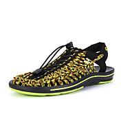 Sandaler-Tilpassede materialer-Gladiator Lysende såler-Herrer-Sort Rød Grøn-Udendørs Fritid-Flad hæl