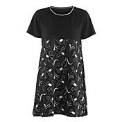 レディース お出かけ 秋 Tシャツ,ストリートファッション ラウンドネック プリント ポリエステル 半袖