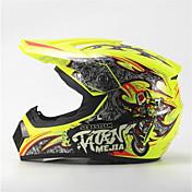 メジャーオフロードバイクレーシングヘルメット光沢イエローフルフェイスダンピング耐久モータースポーツヘルメット