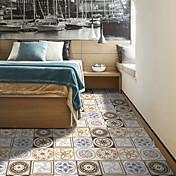 明るい色の装飾パターン陶器のタイル貼り装飾pvc自動スティック寝室とリビングルームの防水