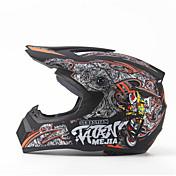 メジャーオフロードバイクレーシングヘルメットグロスブラックフルフェイスダンピング耐久レザーモータースポーツヘルメット