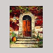 手描きの 風景 横式, 欧風 地中海風 キャンバス ハング塗装油絵 ホームデコレーション 1枚