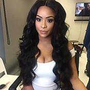 Kvinder Syntetiske parykker Blonde Front Lang Krop Bølge Sort Natural Hairline Midterskilning Naturlig paryk kostume Parykker