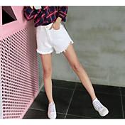 レディース ストリートファッション ハイライズ スリム strenchy ショーツ パンツ ゼブラプリント