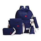 Mujer Bolsos Lona Mochila Escolar para Deportes Gris / Azul Marino / Azul claro