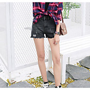 レディース ストリートファッション ハイライズ スリム strenchy ジーンズ ショーツ パンツ ゼブラプリント