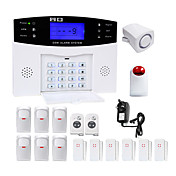 danmini lcd wirless gsm / pstn家屋オフィスセキュリティ盗難警報システム