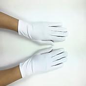 ポリエステル ストレッチサテン 手首丈 グローブ ブライダル手袋 パーティー/イブニング手袋