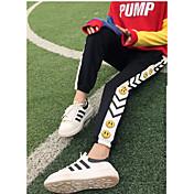 Mujer Activo Tiro Medio Microelástico Corte Ancho Pantalones de Deporte Pantalones,Estampado Invierno