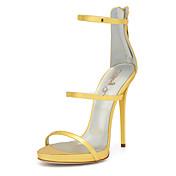 Mujer-Tacón Stiletto-Gladiador Zapatos del club-Sandalias-Boda Vestido Fiesta y Noche-PU-