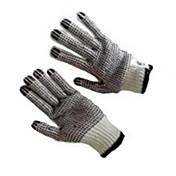スキッドド手袋両面プラスチック作業作業手袋産業保護手袋/ 1バイス