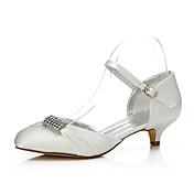 Mujer-Tacón Bajo-Confort Zapatos Dyeable-Zapatos de boda-Boda Exterior Oficina y Trabajo Vestido Fiesta y Noche-Seda-
