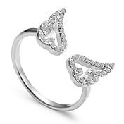 指輪 パンクスタイル かわいいスタイル 欧米の 純銀製 円形 ジュエリー のために 結婚式 パーティー 日常 カジュアル スポーツ 1個