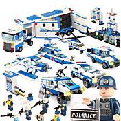 SHIBIAO Bloques de Construcción Juguetes Buque de guerra Aeronave Policía Militar Manualidades Plásticos Unisex 1040 Piezas