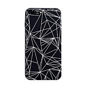 Para iPhone X iPhone 8 Carcasa Funda Diseños Cubierta Trasera Funda Azulejo Líneas / Olas Diseño Geométrico Suave TPU para Apple iPhone X