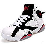 Hombre Zapatos Tul Verano Confort Zapatillas de Atletismo Baloncesto Con Cordón para Deportivo Casual Negro/blanco Negro/Rojo Anaranjado