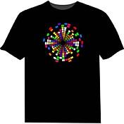 camisetas llevadas 100% algodón 2 aaa pilas de alta calidad de luz nocturna