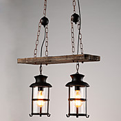 Retro Lámparas Colgantes Para Sala de estar Interior Hall AC 100-240V Bombilla no incluida