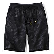 メンズ シンプル ミッドライズ ストレート 非弾性 チノパン ショーツ パンツ 純色 タイル柄 ファッション カモフラージュ