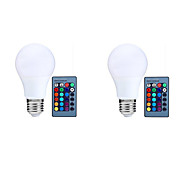 10W E27 Bombillas LED Inteligentes A70 25 LED SMD 5050 Con Sensor Sensor de infrarrojos Control Remoto Decorativa Regulable RGB 800lm