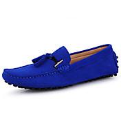 Hombre Zapatos de taco bajo y Slip-Ons Mocasín Cuero real Cuero Primavera Verano Casual Mocasín Azul Oscuro Gris Marrón Ocre Amarillo Azul
