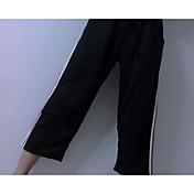 レディース シンプル ミッドライズ ワイドレッグ マイクロエラスティック ワイドレッグ パンツ ソリッド