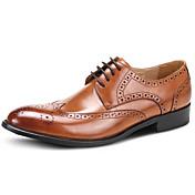 Hombre Zapatos Cuero Primavera Otoño Zapatos formales Zapatos de boda Para Boda Fiesta y Noche Negro Marrón Borgoña