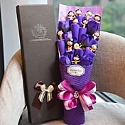 12 muñecas preciosas con flores púrpuras regalo de cumpleaños para niños estilo elegante