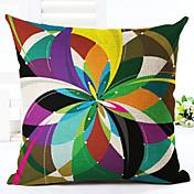 1 個 リネン 枕カバー,幾何学模様 コンテンポラリー 近代の