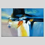 Pintada a mano Abstracto Abstracto Un Panel Lienzos Pintura al óleo pintada a colgar For Decoración hogareña