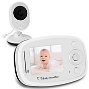 赤外線カメラと2.4Gワイヤレスビデオベビーモニター赤外線ナイトビジョン双方向通話システム