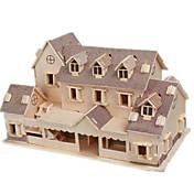 Puzzles 3D Puzzle Maquetas de madera Juguetes de construcción Edificio Famoso Casa Manualidades Madera Clásico Unisex Regalo