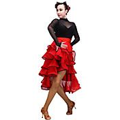 Baile Latino Mujer Actuación Tul Fibra de Leche 1 Pieza Faldas